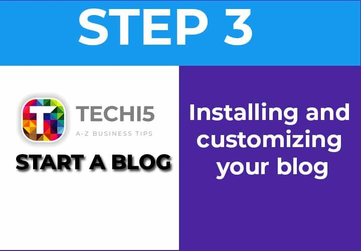 Installing and customizing your blog